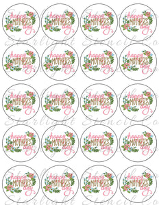Mothers Day Floral PDF tags