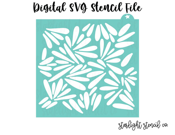 Abstract Petals SVG stencil file