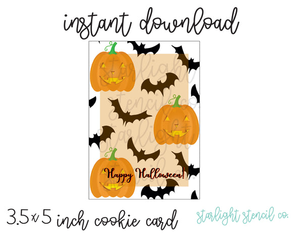 Pumpkin Bat PDF Card