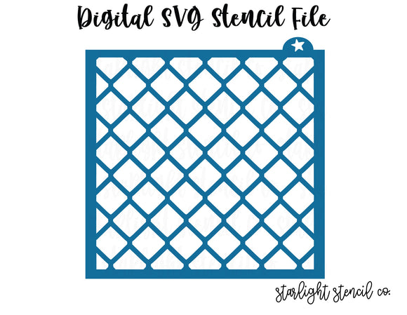 Blue Diamond SVG stencil file