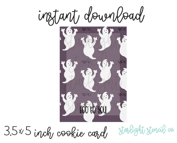 Boo to you! purple PDF card