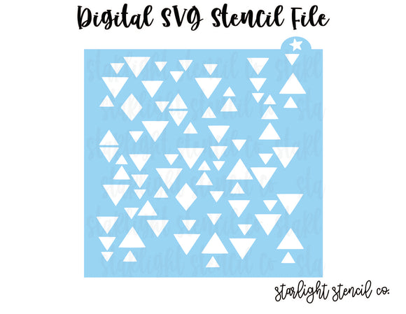 Broken Triangle SVG stencil file