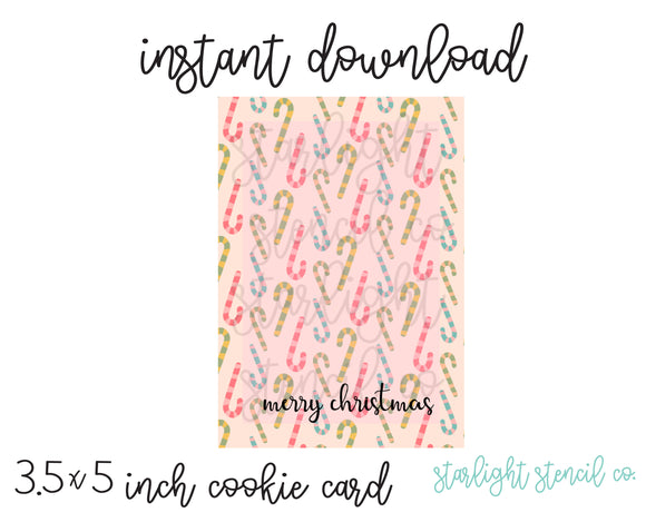 Candy Cane merry christmas PDF card