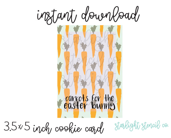 Carrots for the easter bunny PDF card