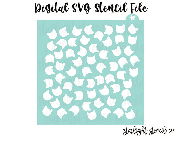 Cat scatter SVG stencil file