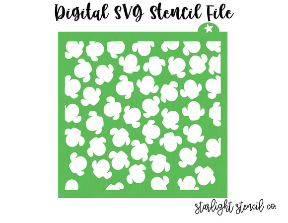 Chubby Cactus SVG stencil file