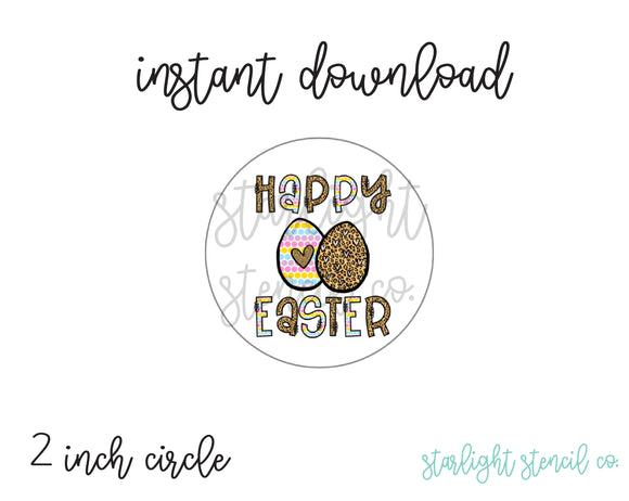 Happy Easter Eggs PDF tags