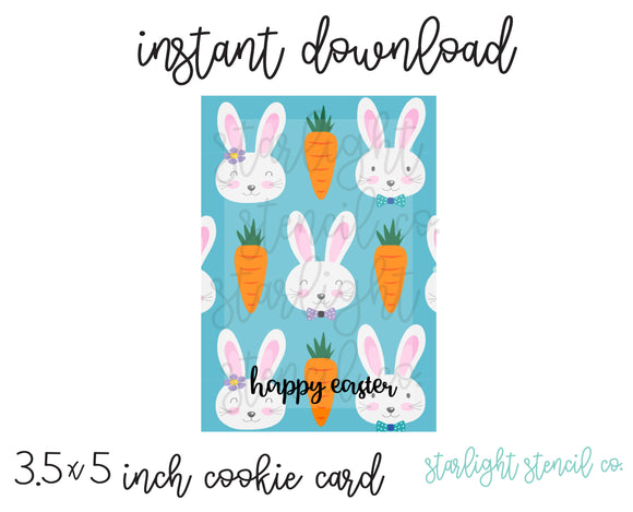 Happy Easter Blue PDF card