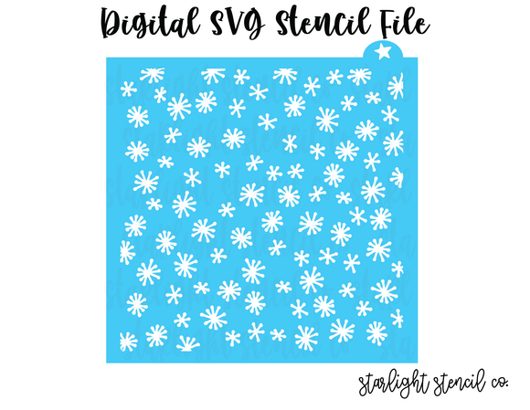 Falling Snow SVG stencil file