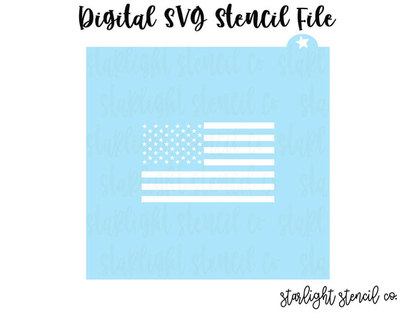 American Flag SVG stencil file