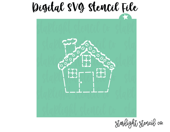 Gingerbread House PYO SVG stencil file
