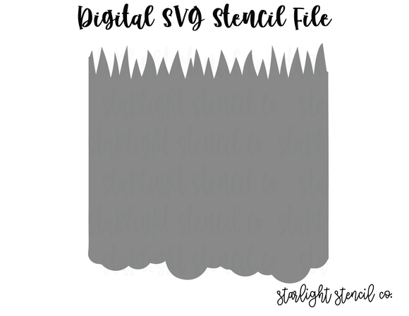Cloud/Grass SVG stencil file