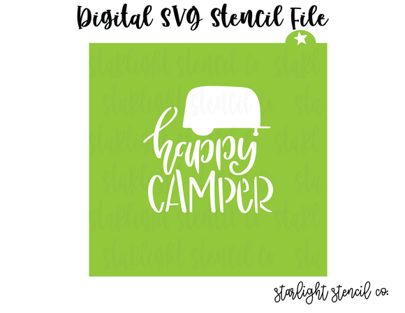 Happy Camper SVG stencil file