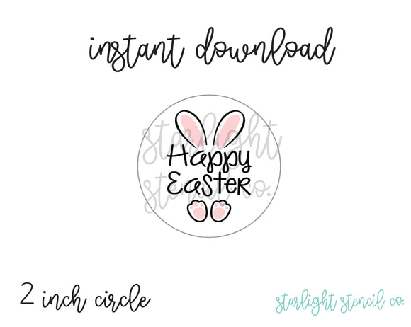 Happy Easter Bunny Ears PDF Tags