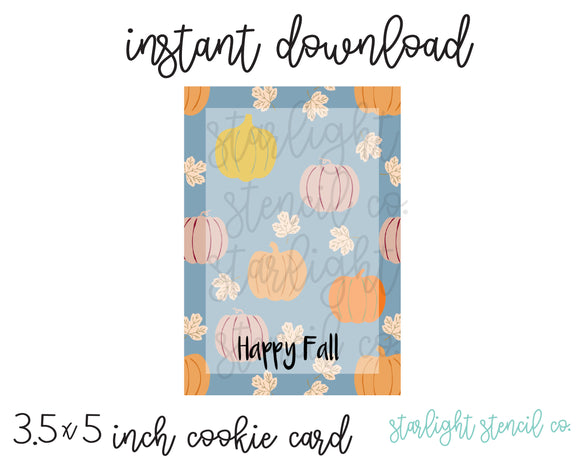 Happy Fall PDF card