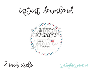 Happy Holidays Letter PDF tags