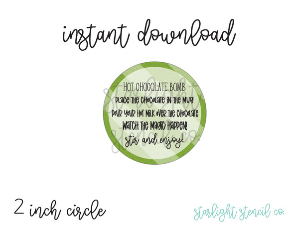 Hot Chocolate Bomb Green PDF tags
