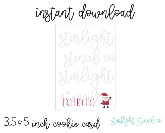 Ho Ho Ho PDF cookie card