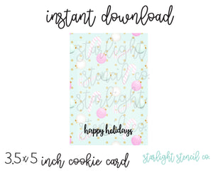 Happy Holidays PDF cookie card