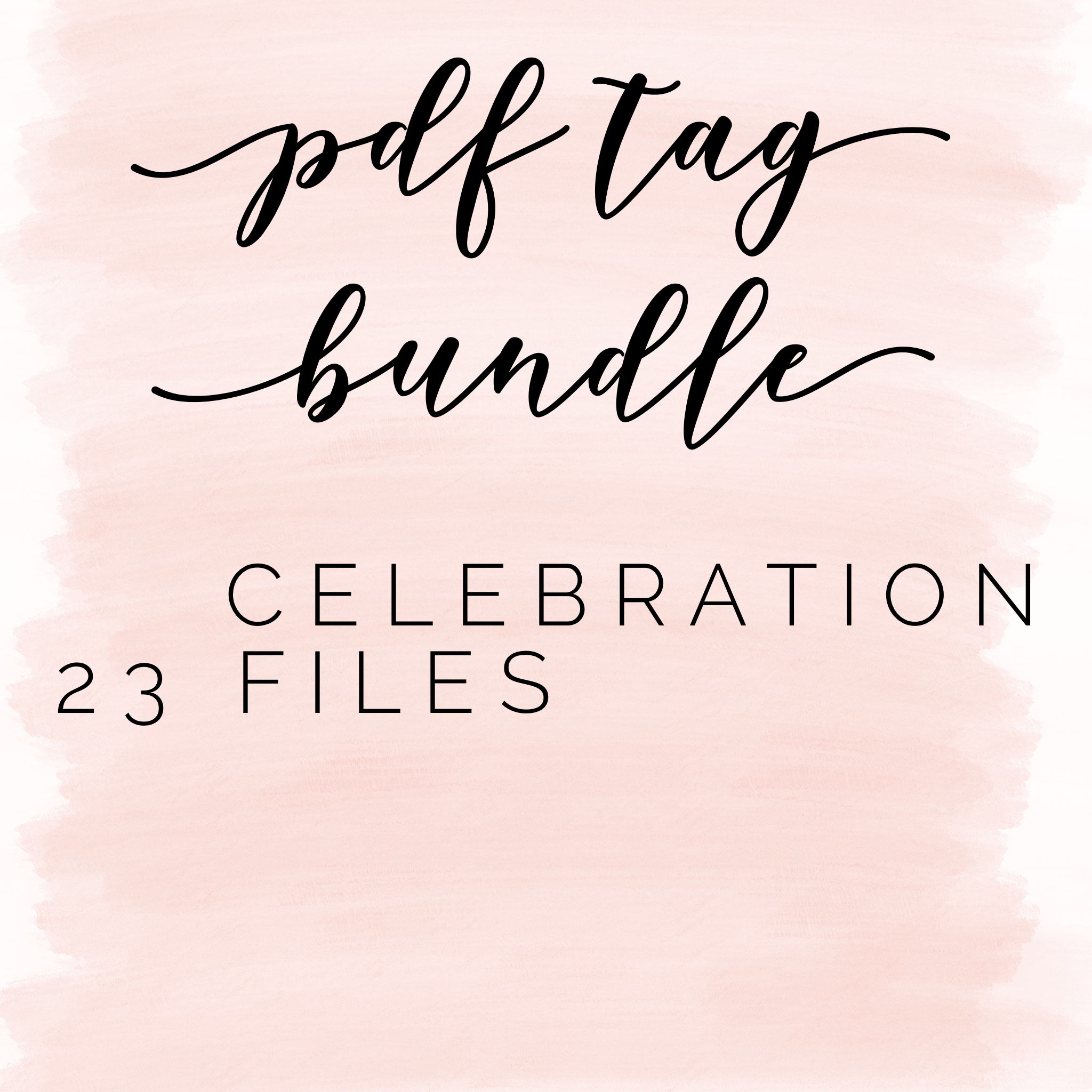 Pdf tag bundle: celebration