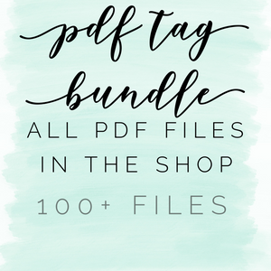 PDF tag bundle: all pdf files in the shop