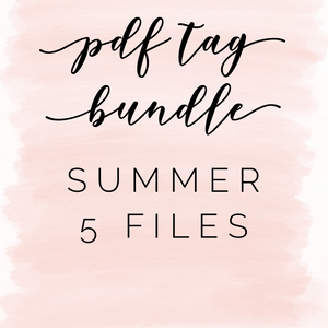 Pdf tag bundle: summer