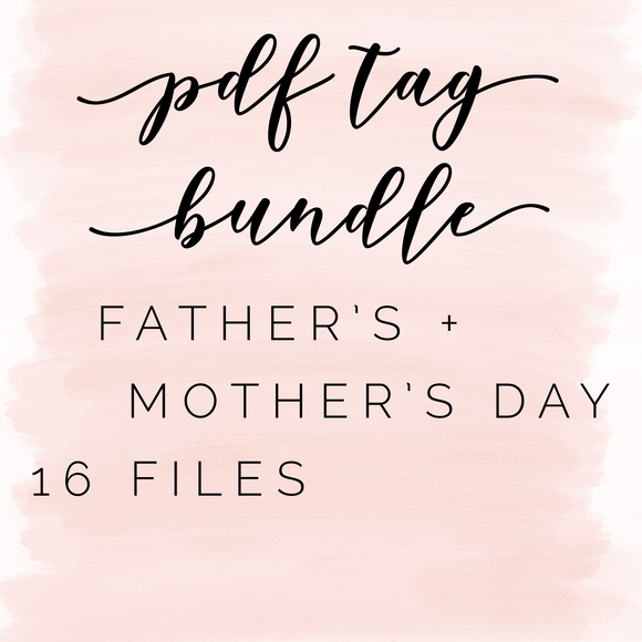 Pdf tag bundle: father's + mother's day