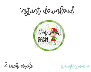 I'm Back Elf Girl PDF cookie tags