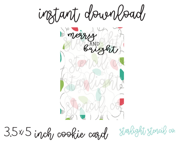 Merry and Bright PDF cookie cards