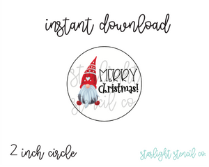 Merry Christmas Gnome PDF tags