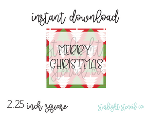 Merry Christmas Trees Square PDF tags