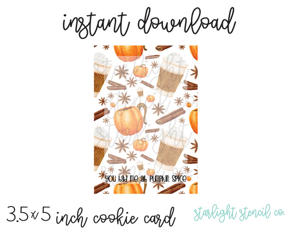 You had me at pumpkin spice PDF card