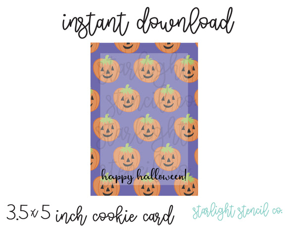 Happy Halloween PDF card