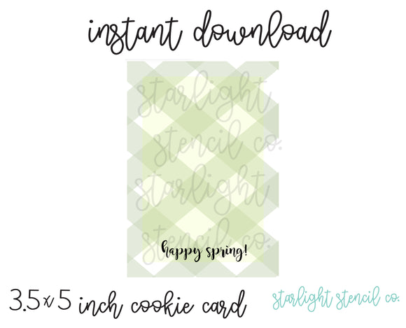 Happy Spring PDF card