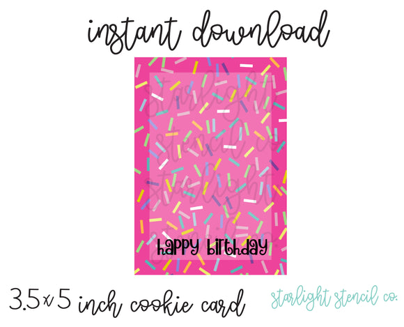 Happy Birthday Sprinkle PDF card