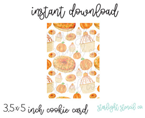Pumpkin Sweets PDF Card