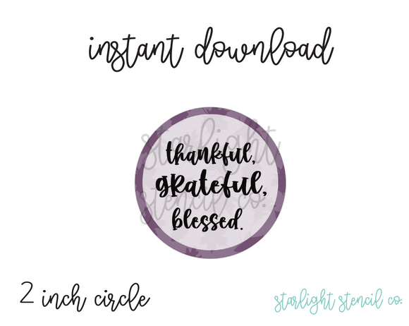 Thankful Grateful Blessed PDF tags