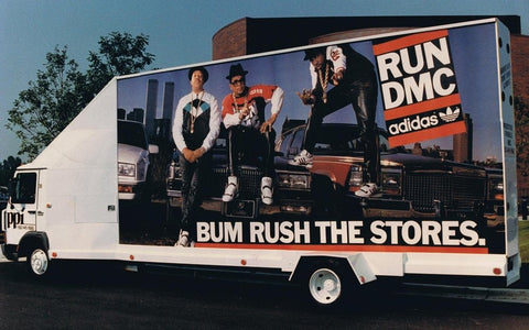 Run-DMC Adidas Bum Rush The Show Billboard On Truck