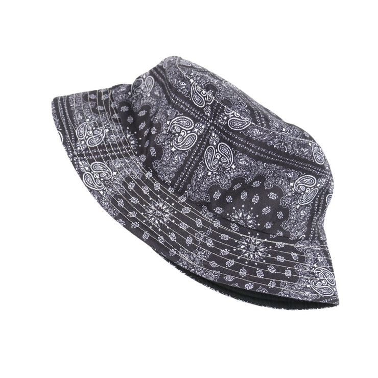 """BLACK PAISLEY BUCKET HAT"""