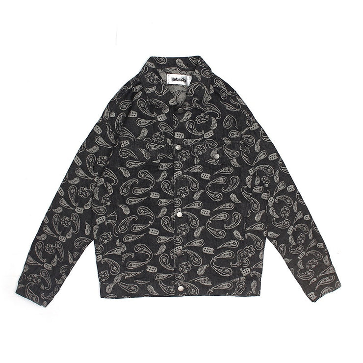 """PAISLEY DENIM JACKET"""