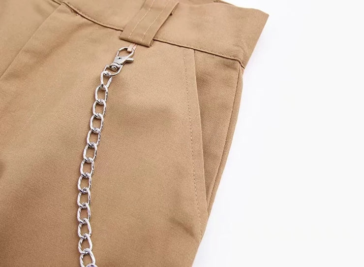 """CLASSIC HOMEGIRL PANTS WITH CHAIN"""