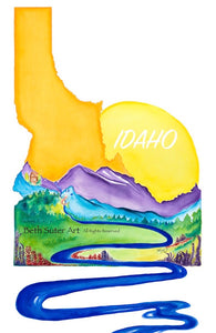 """A River Runs Through It""(Idaho)-PRINT"
