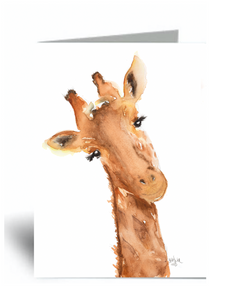"""Giraffe Lashes"" Blank Card 10 Pack"