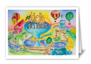 """Hello Meridian"" Blank Card 10 Pack"
