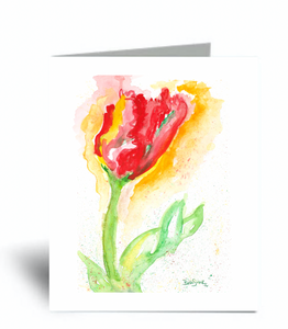 """Jennifer Tulip"" Blank Card 10 Pack"