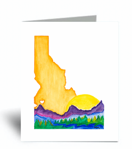 """Love Idaho"" Blank Card 10 Pack"
