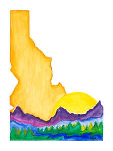 """Love Idaho"" (solid) PRINT"