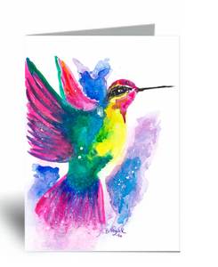 """Summer Hummingbird"" Blank Card 10 Pack"