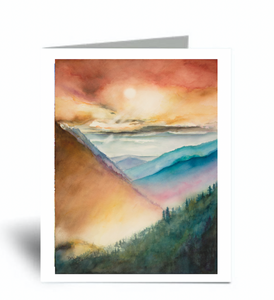 """The View Is Worth The Climb"" Blank Card 10 Pack"