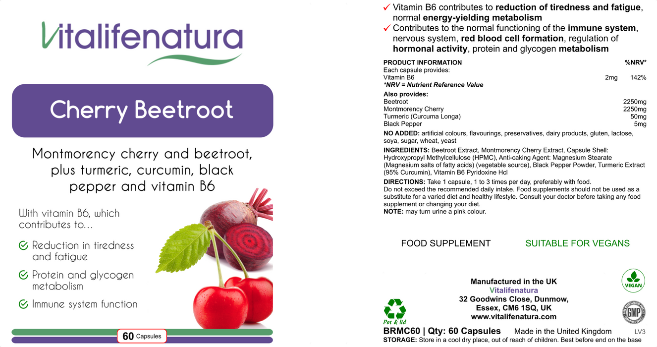 Cherry Beetroot 60 capsules